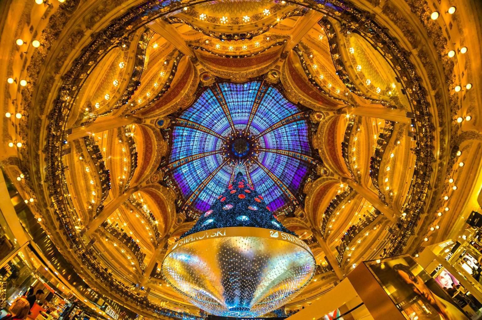 Coupole des grands magasins parisiens